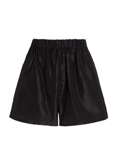 Prada - Women's Silk Logo Shorts - Black - Moda Operandi