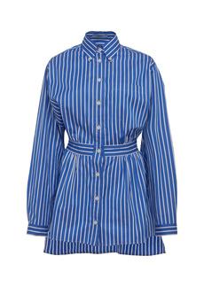 Prada - Women's Striped Cotton-Poplin Shirt - Stripe - Moda Operandi