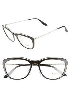 Prada 53mm Cat Eye Optical Glasses