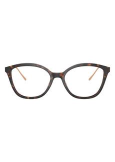 Prada 53mm Round Optical Glasses