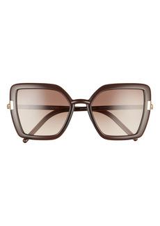 Prada 54mm Gradient Butterfly Sunglasses