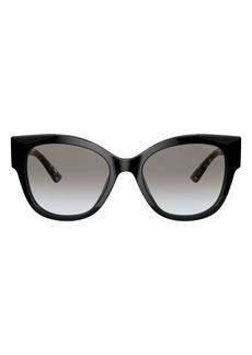 Prada 54mm Gradient Rectangular Sunglasses