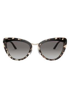 Prada 55mm Gradient Cat Eye Sunglasses