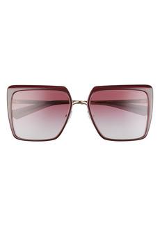 Prada 57mm Gradient Square Sunglasses