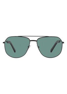Prada 60mm Polarized Pilot Sunglasses