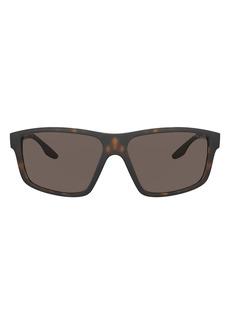 Prada 60mm Rectangular Sunglasses