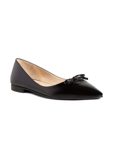 Prada Bow Logo Pointed Toe Flat (Women)