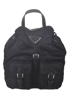 Prada Logo Buckled Chain Strap Backpack