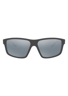 PRADA SPORT 60mm Rectangle Sunglasses