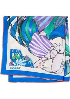 Prada floral-print square foulard