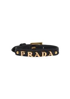 Prada logo embellished bracelet
