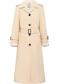 Prada single-breasted midi trench coat