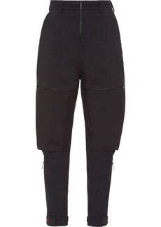 Prada Linea Rossa technical tapered trousers