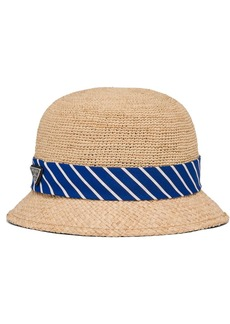 Prada woven raffia hat