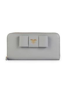 Prada Zip-Around Leather Wallet