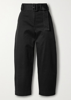 Proenza Schouler Belted Cropped Cotton-blend Twill Straight-leg Pants