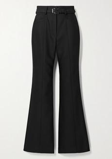 Proenza Schouler Belted Wool-blend Flared Pants