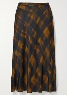 Proenza Schouler Checked Hammered-satin Midi Skirt