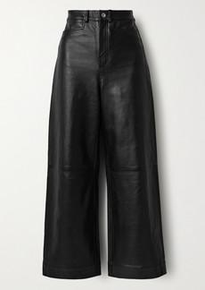 Proenza Schouler Cropped Leather Wide-leg Pants