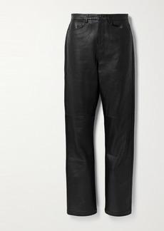 Proenza Schouler Leather Straight-leg Pants