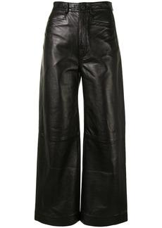 Proenza Schouler nappa-leather culotte trousers