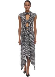 Proenza Schouler Printed Stretch Viscose Cady Midi Dress