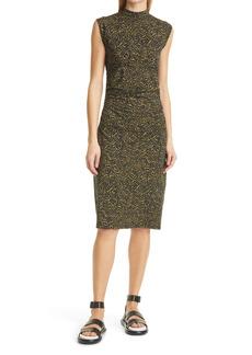 Proenza Schouler Abstract Swirl Sleeveless Stretch Cotton Knit Midi Dress