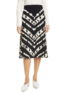 Proenza Schouler White Label Animal Stripe Jacquard Knit Skirt