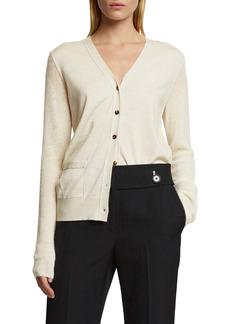 Proenza Schouler Contrast Sleeve Merino Wool Blend Cardigan