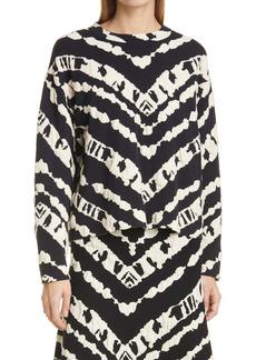 Proenza Schouler White Label Crop Animal Jacquard Sweater