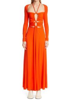 Proenza Schouler Cutout Long Sleeve Jersey Dress
