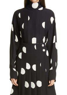 Proenza Schouler Dot Blouse with Removable Scarf