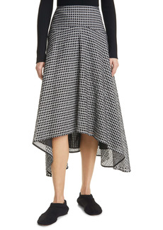 Proenza Schouler Grid Pattern Broderie Anglaise Skirt