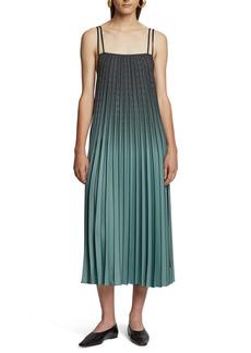 Proenza Schouler White Label Ombré Plaid Pleated Midi Dress