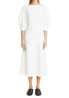 Proenza Schouler Puff Sleeve Crepe Dress