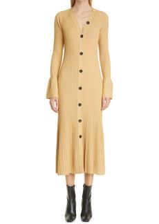 Proenza Schouler Rib Long Sleeve Dress