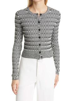 Proenza Schouler Silk & Cotton Rib Crop Cardigan