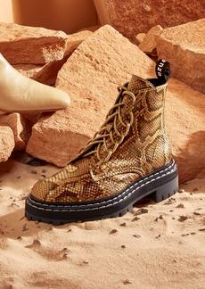 Proenza Schouler Snakeskin Combat Boots