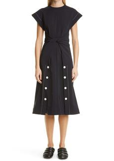 Proenza Schouler Twist Gabardine Dress