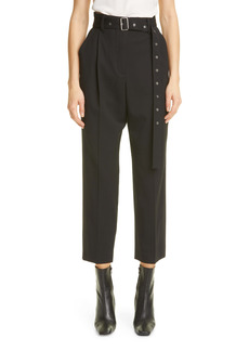 Proenza Schouler Upcycled Crop Stretch Wool Carrot Pants