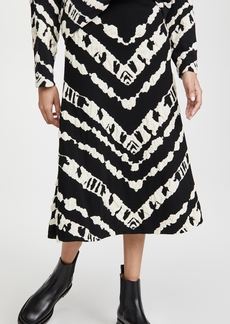 Proenza Schouler White Label Animal Jacquard Knit Skirt