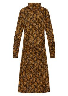 Proenza Schouler White Label Snake Print Long Sleeve Dress