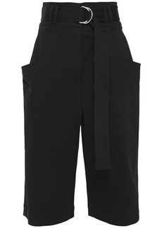 Proenza Schouler Woman Belted Cotton-blend Twill Shorts Black
