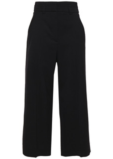 Proenza Schouler Woman Cropped Wool-blend Twill Wide-leg Pants Black