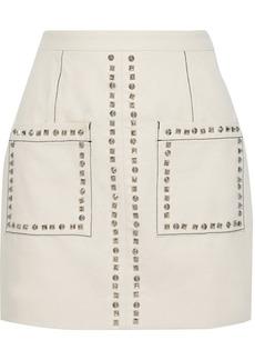 Proenza Schouler Woman Studded Cotton-canvas Mini Skirt Cream