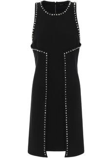 Proenza Schouler Woman Studded Crepe Mini Dress Black