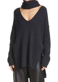 Proenza Schouler Prozena Schouler Merino Wool Sweater with Scarf