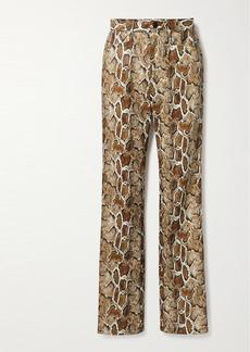Proenza Schouler Snake-effect Faux Leather Straight-leg Pants
