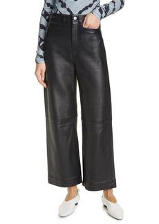 Women's Proenza Schouler White Label Leather Culotte Pants