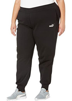 Puma Plus Size Essential Sweatpants Fleece Closed Bottoms